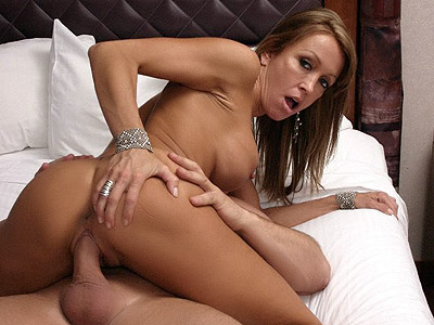 MILF hottie gets her ass and pussy cock filled